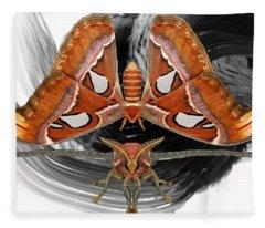 Atlas Moth8 Fleece Blanket