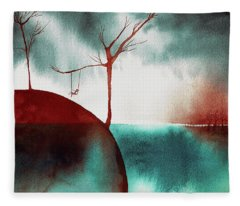 Atmospheric Day Fleece Blanket