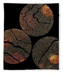 Atoms Ink Artwork Fleece Blanket