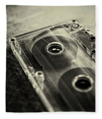 Audio Cassette Fleece Blanket