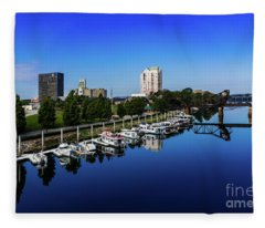 Augusta Ga Savannah River 2 Fleece Blanket