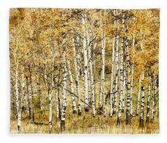 Autumn Aspen Fleece Blanket