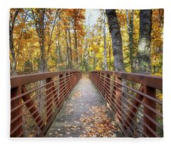 Autumn At Frog Bay  Fleece Blanket