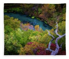 Autumn At Ha Ha Tonka State Park Fleece Blanket