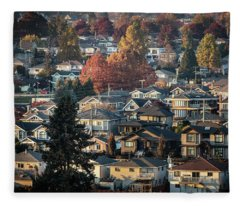 Autumn At Home Fleece Blanket