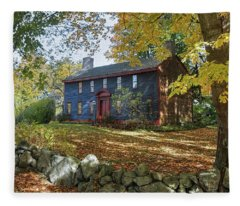 Autumn At Short House Fleece Blanket