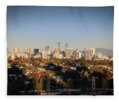 Autumn At The City Fleece Blanket