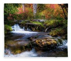 Autumn Cascades Fleece Blanket
