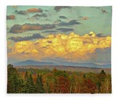Autumn Clouds Over Maine Fleece Blanket