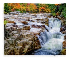 Autumn Color At Rocky Gorge Fleece Blanket