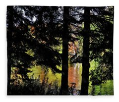 Fleece Blanket featuring the photograph Autumn Colors At The Spa  by Andrea Kollo
