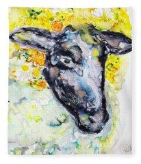 Autumn Crown Sheep Fleece Blanket