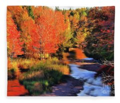 Autumn Glamour Fleece Blanket