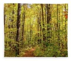 Autumn Hike Fleece Blanket