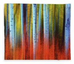 Autumn In Color Fleece Blanket