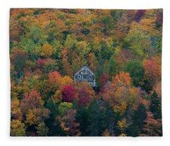Autumn In Maine Fleece Blanket