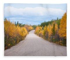 Autumn In Ontario Fleece Blanket
