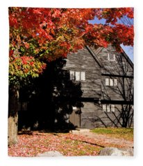 Autumn In Salem Fleece Blanket
