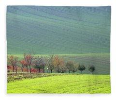 Autumn In South Moravia 18 Fleece Blanket