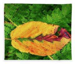 Autumn Is Coming Fleece Blanket