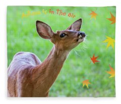 Autumn Is In The Air Fleece Blanket