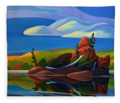 autumn Island Fleece Blanket