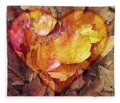 Autumn Love Fleece Blanket