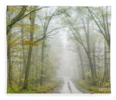 Autumn Mist Monongahela National Forest Fleece Blanket