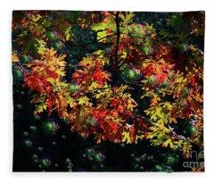 Autumn Oak Magic Fleece Blanket