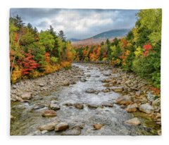 Autumn On The Kanc. Nh Fleece Blanket