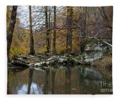 Autumn On The Kings River Fleece Blanket
