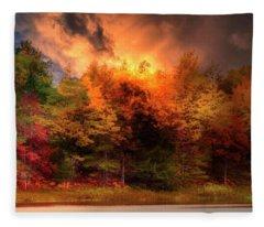 Autumn On The Tahquamenon River Fleece Blanket