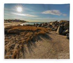 Autumn Rays Over Cape Cod Fleece Blanket