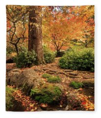 Autumn Stream In Lithia Park Fleece Blanket