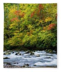 Autumn Stream Fleece Blanket