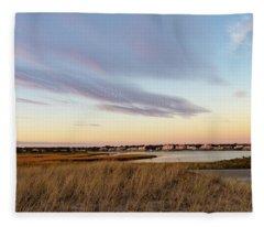 Autumn Sunset At West Dennis Beach Cape Cod Fleece Blanket