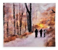 Autumn Walkers Fleece Blanket