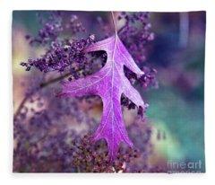Autumnal Ultra Violet Sound Fleece Blanket