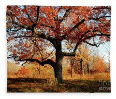 Autumns Paint Brush Fleece Blanket