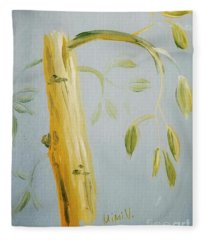 Avocado Tree  Fleece Blanket