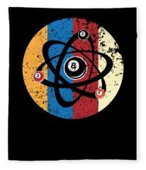 Awesome Billiards Ball Atom Science Fleece Blanket