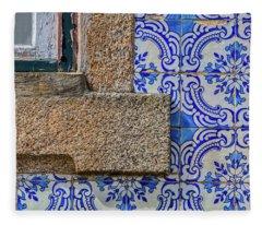 Azulejo Tile Of Portugal Fleece Blanket