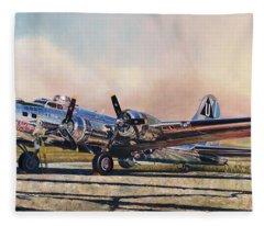 B-17g Sentimental Journey Fleece Blanket