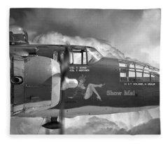 B-25 Mitchell Show Me Fleece Blanket