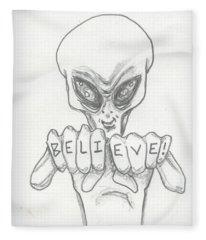 B-e-l-i-e-v-e Fleece Blanket