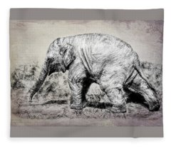 Baby Elephant Walk Fleece Blanket