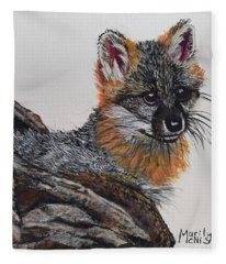 Baby Grey Fox Fleece Blanket
