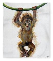 Baby Orangutan Fleece Blanket