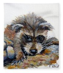 Baby Raccoon Fleece Blanket