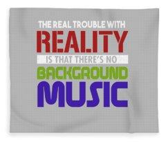 Background Music Fleece Blanket